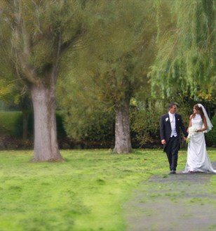 bride and groom at the park hotel