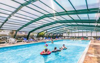 Andrewshayes Holiday Park camping caravanning holiday homes Devon free swimming pool