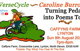 Caroline Burrows / VerseCycle: Turning Pedals into Poems Tour