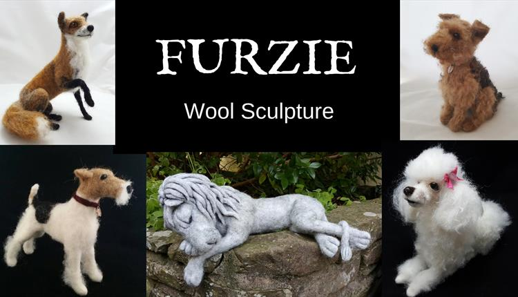 Needlefelt an animal from wool