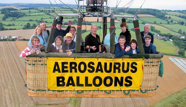 An Aerosaurus Balloon in the air