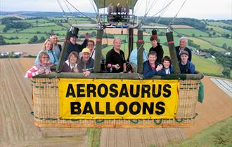 An Aerosaurus Balloon in the air