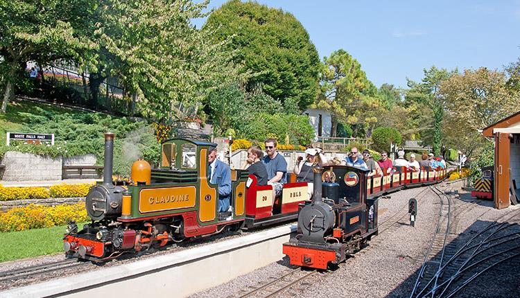 mini trains at pecorama
