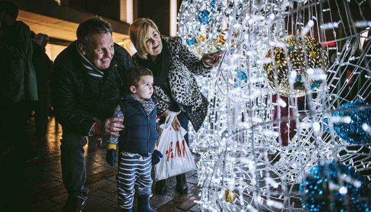 Charity Christmas Tree Festival in Princesshay, Exeter