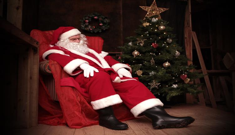 Santa in the Caves at Kents Cavern Torquay