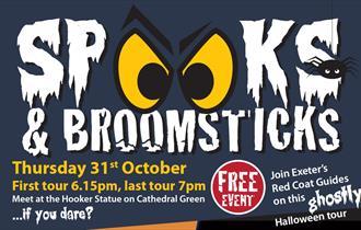 Spooks & Broomsticks tour poster