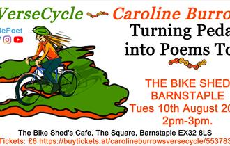 Caroline Burrows / VerseCycle: Turning Pedals into Poems Tour: Barnstaple