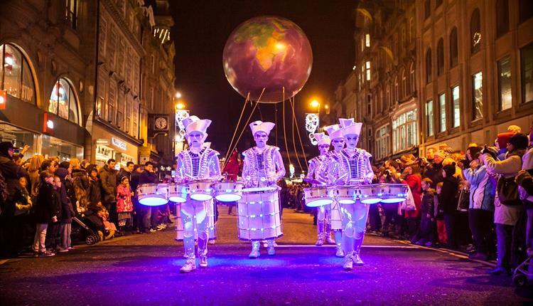 Spark! street performance in Princesshay, Exeter