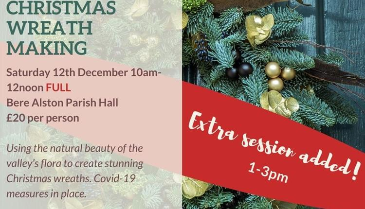 Christmas Wreath Making with Tamar Valley Vineyard