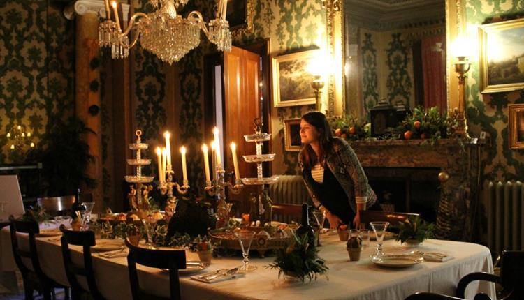 arlington court christmas dining room