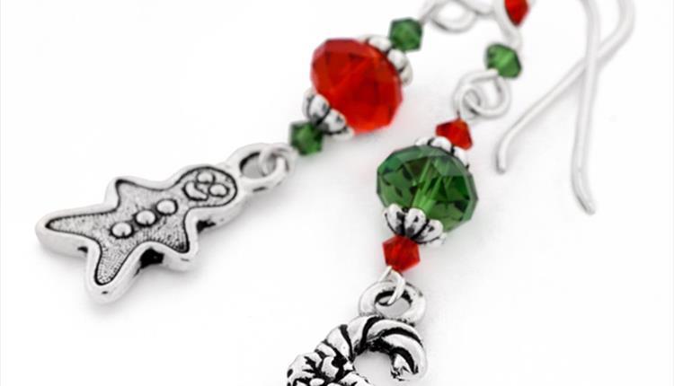 Christmas Earrings & Origami Gift Box