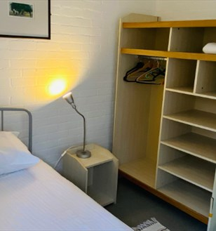 Hostel-style rooms at Dartington