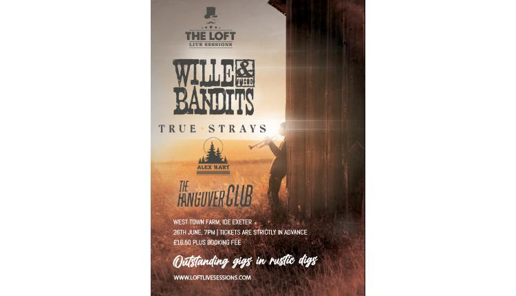 Wille & The Bandits live at West Town Farm, Ide, Exeter