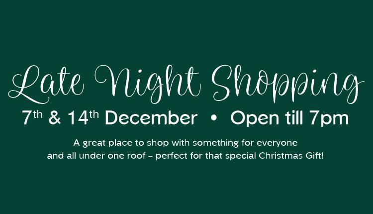 Late Night Shopping at Dartington Crystal
