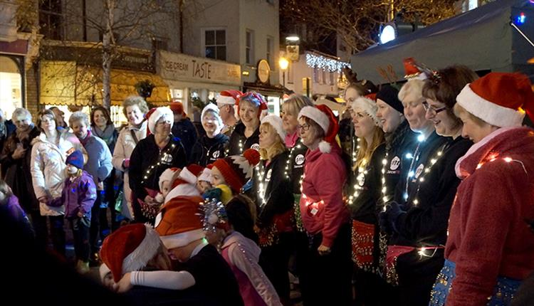 Christmas Lights Switch on in Sidmouth