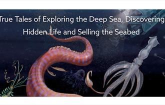 Image of sea creatures with the event title overlaid