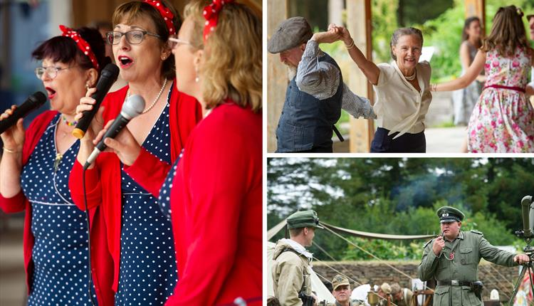 1940's Re-enactment with Dancing & Music and Second World War re-enactors