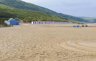 woolacombe beach and beach huts