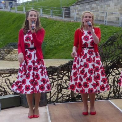 Singers performing at the Nothe Fort in Weymouth