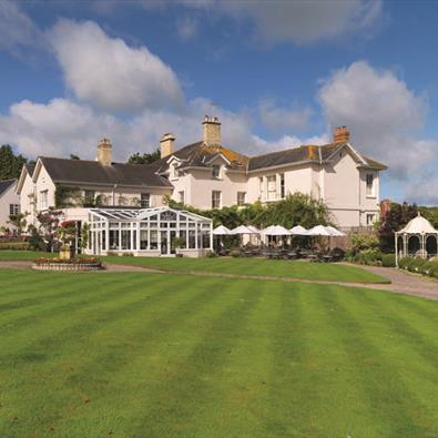 Outside of Summer Lodge Country Hotel and Spa near Dorchester, Dorset