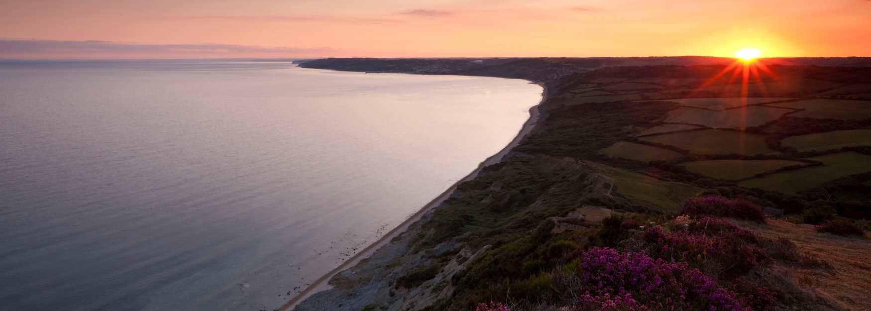 Sunset at Golden Cap © Visit Britain