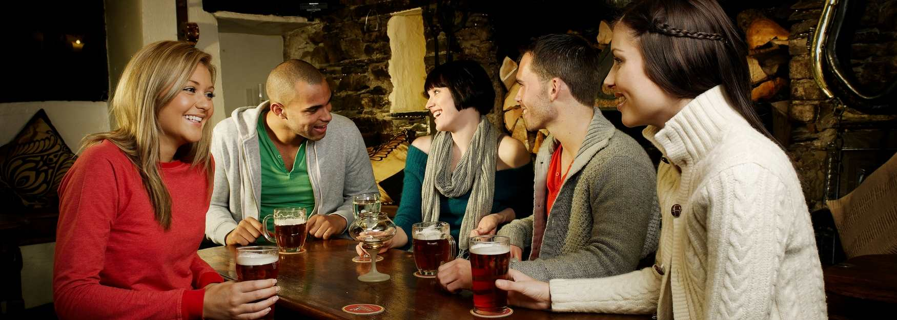 Enjoy a drink with friends