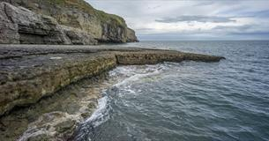 Dancing Ledge near Spyway - copyright National Trust