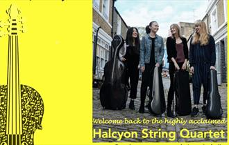 The Halcyon String quartet recital poster 25th July 2021