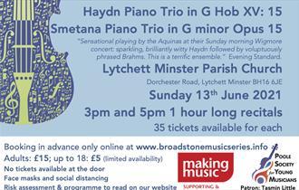 The Aquinas piano Trio e-poster Music Recital