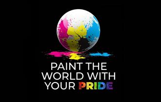 Bourne Free - Paint the World with your Pride logo