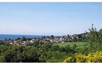 Beautiful views over Charmouth to the sea