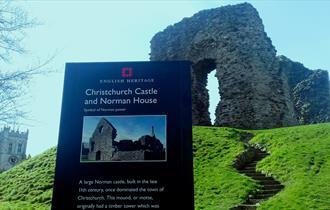 Christchurch Castle ruins, Dorset