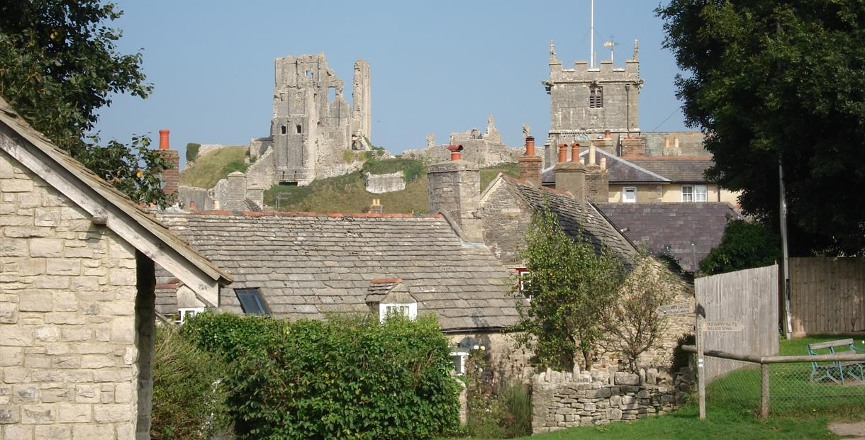 Corfe Castle village, Dorset