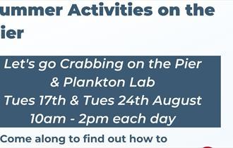 Summer activities on the pier