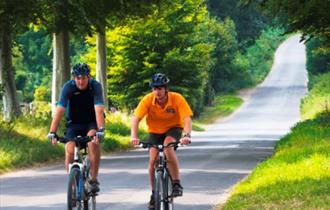 Cyclists at Long Crichel