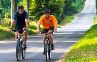Cyclists at Long Crichel, Dorset