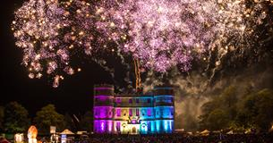 Camp Bestival fireworks at Lulworth Castle