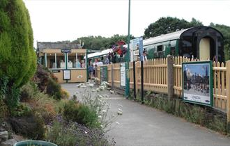 Swanage Railway's Norden Station is located next to Norden Car Park