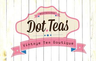 Pink and white vintage logo