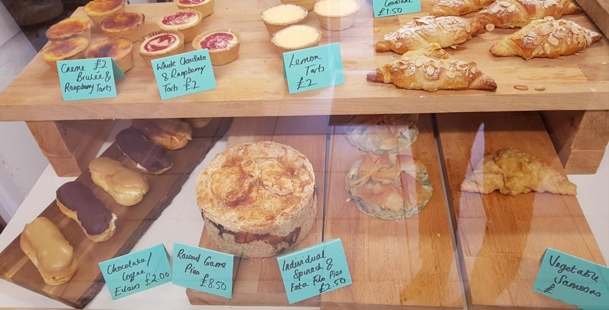 Fresh cakes and pastries from Francombe Farm Bakery