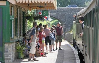 Swanage Railway at Harmans Cross station - photo taken by Andrew P.M. Wright