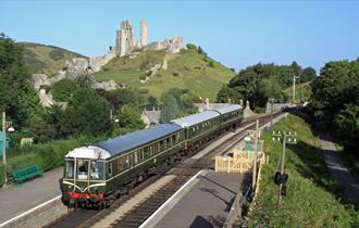 Swanage Railway at Corfe Castle Station - photo taken by Andrew P.M. Wright