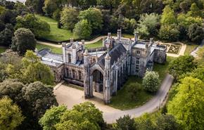 Aerial view of Highcliffe Castle