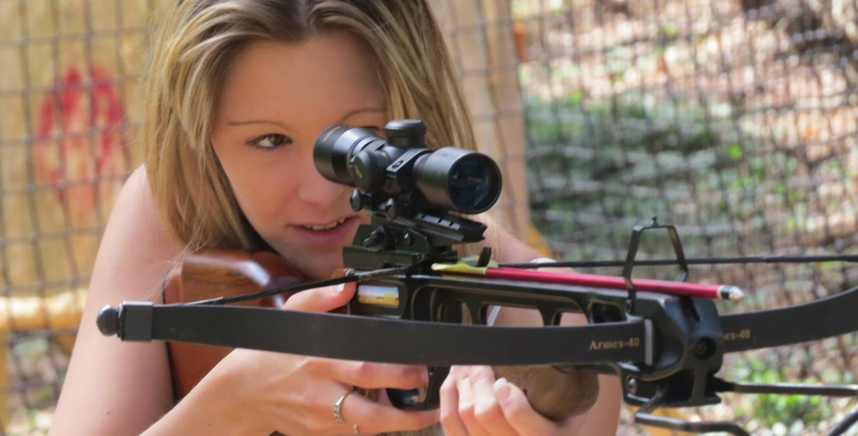 Archery in Dorset, Crossbows & Axe Throwing in the woods