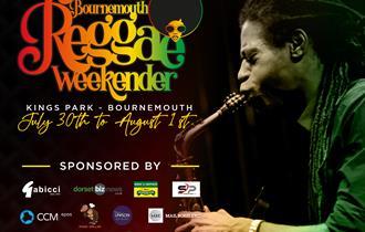 Bournemouth Reggae Weekender Banner with Sponsors