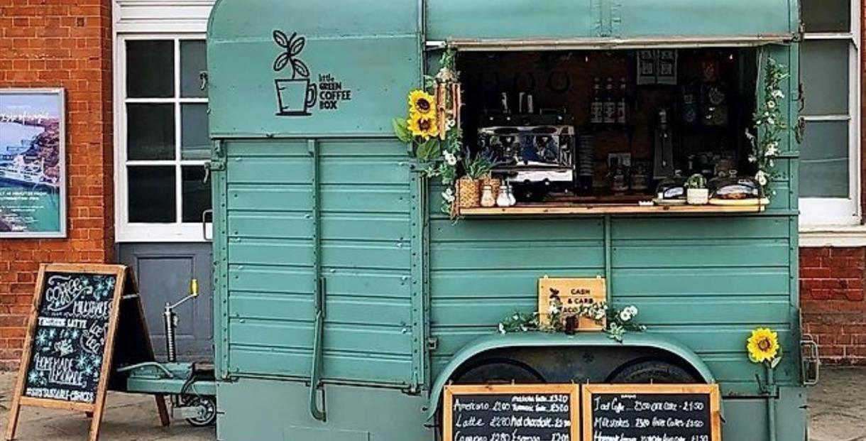 Little Green Coffee Box at Bourneouth Train Station, Dorset