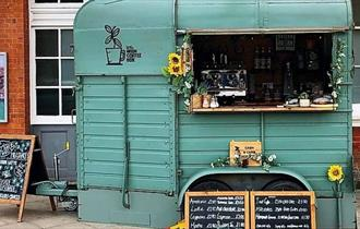 Little Green Coffee Box at Bourneouth Train Station, Dorset