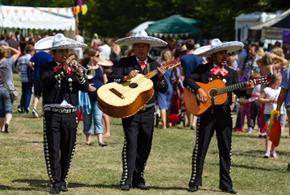 Mariachi band at the Great Dorset Chilli Festival