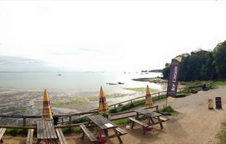 Views from Middle Beach Cafe, Studland, Dorset