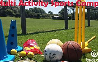 Multi sports equipment on the field at Bridport Leisure Centre